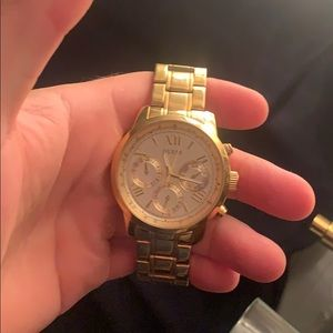 Guess gold plated wrist watch